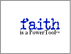 faith is a dive into your destiny powertool